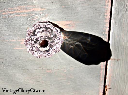 glass knob in morning light