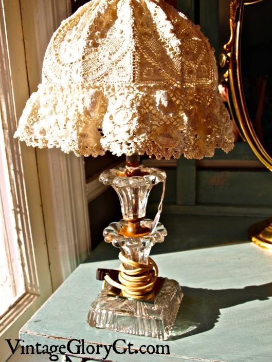boudior lamp in morning light