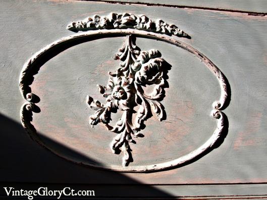 detail of blue dresser